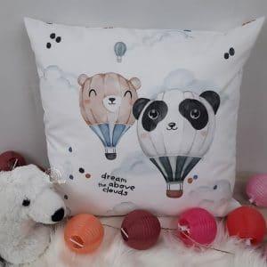 Coussin Carré Ballon Panda